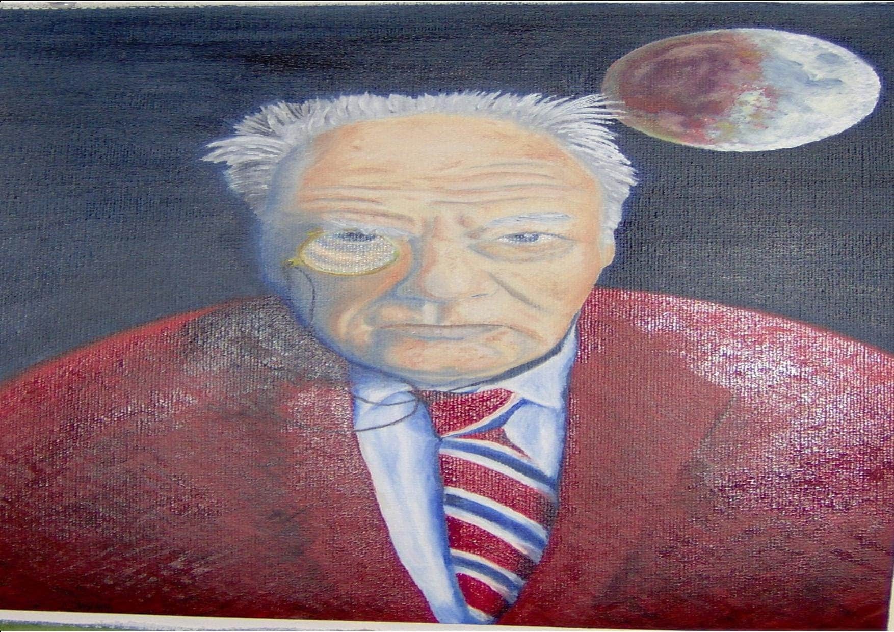 Tribute to Sir Patrick Moore who died today. 1