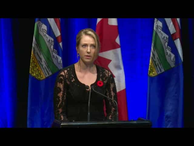 Cassia Prentice speaks at her father's state memorial service 32