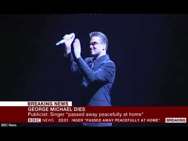 BBC News announces death of pop superstar George Michael 29