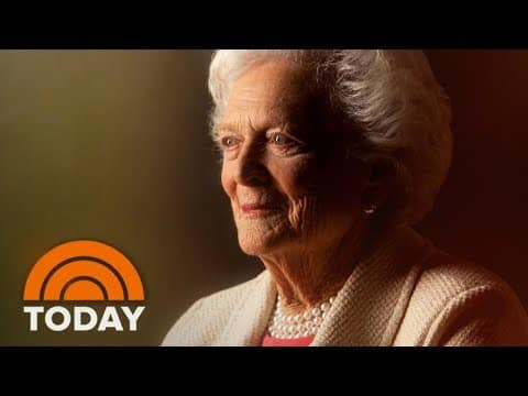 Former First Lady Barbara Bush Has Died At Age 92; Tributes Pour In | TODAY 7